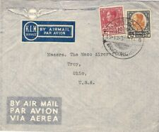 1936 Siam Thailand Cover by KLM AIRMAIL SERVICE to WACO AIRCRAFT CO Troy Ohio