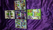 Base Sims 3 game, 3 Expansion packs, and 1 stuff pack