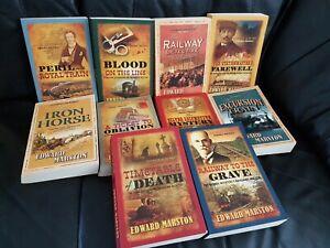 x10 The Railway Detective Series Paperback Books - Edward Marston