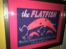 Flatfish Fishing Lures Helin Detroit Bait Shop Man Cave Advertising Lighted Sign