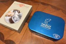 Richard Wheatley Fly Box ~ Trout Unlimited ~ Aluminum ~ New ~ Unused