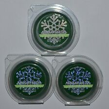 LOT OF 3 BATH BODY WORKS MAHOGANY BALSAM WAX MELTS TART WHITE BARN CANDLE WARMER