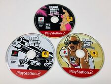 Grand Theft Auto Vice City, 3 And San Andreas GTA Video Game Lot Disc Only