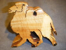 free dom. ship 2 HUMPED BACTRIAN CAMEL SHAPED WOODEN BOX FIGURED MAPLE WOOD