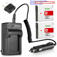 Kastar Battery and Normal Charger Kit for Sony type G NP-BG1 FG1 CyberShot DSC