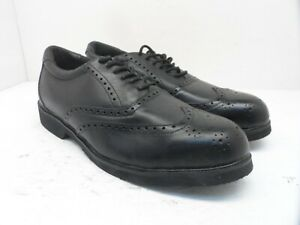 Rockport Men's Dressports Steel Toe Wing Tip Oxford RK6741 Black Leather 11W