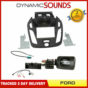 Ford Transit Connect 2013 > Black Double Din Fascia / Steering / Antenna Kit