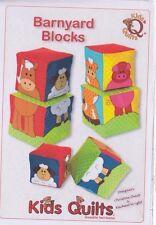 SALE -PATTERN - Barnyard Blocks - applique stacking blocks PATTERN - Kids Quilts