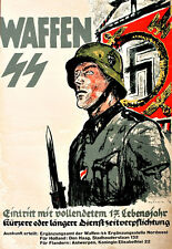 Waffen German Propaganda War  Poster Print