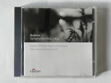 CD Brahms Symphonies Nos 3 & 4 Berlin Philharmonic Orchestra Harnoncourt