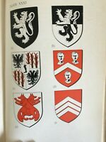 1943 MEDIEVAL HERALDRY by JONES -  ARMS COL PLTS WELSH LATIN WORD LIST *LTD ED
