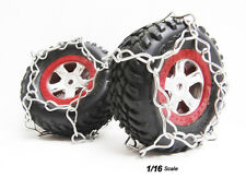 RC Tire Chain Fits Traxxas Slash 1/16 Scale Tires 2 STAINLESS STEEL Snow Chains
