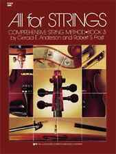 """All For Strings"" Book 3 Violin Brand New Music Book Intermediate Method On Sale"