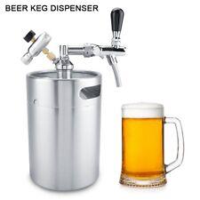 5L Mini Edelstahl Fass Growler Keg Hause brauen Bierfass Flasche mit Wasserhahn