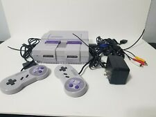 SNES Classic Console W/ 2 Controllers And 4 Games Tested and Works (Read)