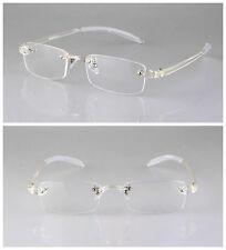 TR90 Transparent Clear Flexible Eyeglass Frame Rimless Retro Glasses Ultralight
