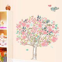 Birds Flower Tree Removable Vinyl Decal Wall Art Sticker Mural Room Home