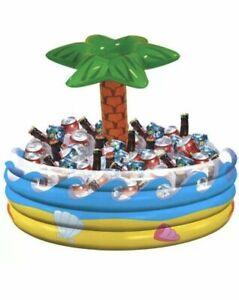 Palm Tree Inflatable Cooler Hawaiian Luau Beach Pool Party Decoration Supplies