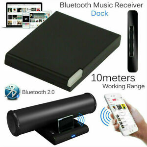 Music Receiver Audio Adapter Bluetooth For MP4 iPod iPhone 30 Pin Dock Speaker