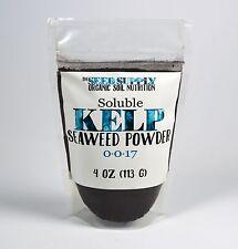 4 Ounces Soluble Kelp Seaweed Powder Organic Fertilizer Soil Amendment Potassium