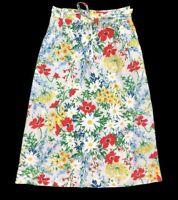 Meadowbank Vintage A-Line Skirt Floral Wrap Colorful Daisies Women's Size Medium