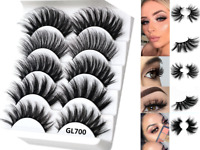 5Pairs 3D GL700 False Eyelashes Long Thick Mixed Fake Eye Lashes Makeup Mink NEW