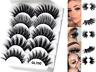 5Pairs 3DGL700 False Eyelashes Long Thick Mixed Fake Eye Lashes Makeup Mink UK