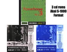 Akai s-1000, Power House Vol. 1, 2 & 3  CD ROMs s-3000