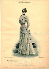 Publicité ancienne la mode pratique toilette de diner été no 29 1899