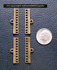 10 hole separator spacer bars multiple strand necklace bronze plt 4pcs fpc176