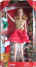 BARBIE 'HOME FOR THE HOLIDAYS' SPECIAL TARGET EDITION GOLD/RED STOCKINGS GIFTS