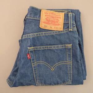 Womens Indigo Dark Blue LEVIS 525 W30 L30 Vintage Bootcut Denim Jeans 525s