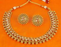 Set Indian Necklace Bollywood Style Gold Plated Fashion Wedding Bridal Jewelry