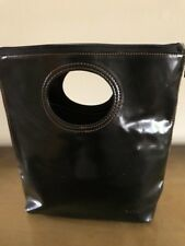 BLACK FAUX PATENT LEATHER 90'S CLUTCH HANDBAG FREE SHIPPING!!!!!!