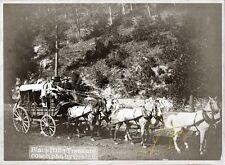 "Giclee Art Print of c.1890 Photo "" Black Hills Treasure Coach"" 8 X 10 by Gabrill"