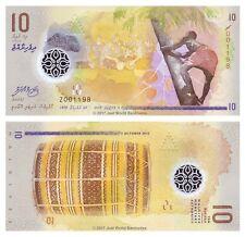 Maldive 10 Maldive 2015 polimero di ricambio P-NUOVE BANCONOTE UNC