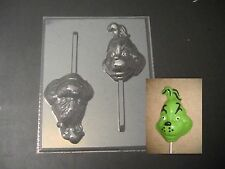 Grinch Face Head Lollipop Chocolate Candy Soap Crayon Mold