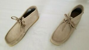 Mens Size 13M Sand Clarks Stinson Hi Ankle Suede Leather Boots preowned