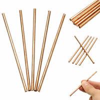 5 Pcs 99.9% Pure Copper Cu Metal Bar Rods Cylinder Diameter 3mm, Length 100mm