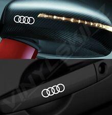 4x Audi Rings Logo Premium Cast Door Handle / Mirror Decals Stickers Quattro RS