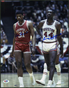 Wes Unseld + Elvin Hayes SIGNED 11x14 Photo Louisville UofH PSA/DNA AUTOGRAPHED