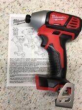 "Milwaukee•2656-20•M18 18Volt Li-Ion 1/4"" Cordless Impact Driver•Bare Tool•New!"
