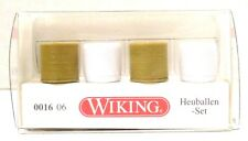 HO Scale Wiking 1606 Wrapped-Round Hay Bale Set pkg (4)