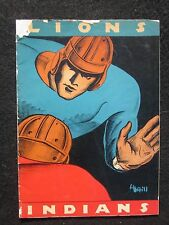 1934 Rose Bowl Stanford Indians vs Columbia Lions Football Program