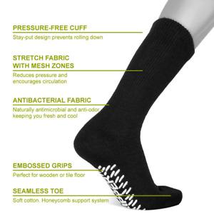 "Diabetic CREW circulatory Socks Health Men's   <NON SKID SOLE>  "" Slipper Socks"""