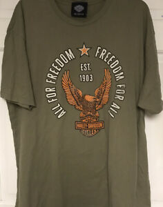 "Harley Davidson Museum  ""ALL FOR FREEDOM, FREEDOM FOR ALL"" T-Shirt, Men's XL"