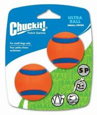 Chuckit Small Ultra Ball Tough Dog Puppy Rubber Bounce Floating Toy - 2 PACK