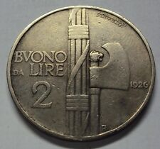 BUONO DA 2 LIRE VITTORIO EMANUELE III 1926 BB