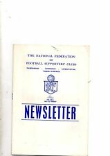 NATIONAL FEDERATION OF FOOTBALL SUPPORTERS CLUBS NEWSLETTER No.29 Nov 1973