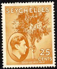 More details for seychelles1938 brown-ochre 25c chalk-paper multi-script mint sg141